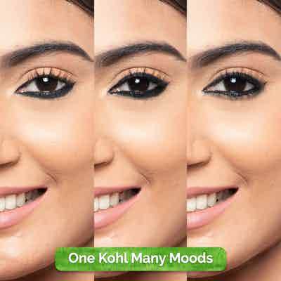 Charcoal Black Long Stay Kohl  For 11-Hour Smudge-free Stay with Free Sharpener
