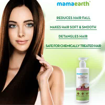 mamaearth onion conditioner for detangles hair