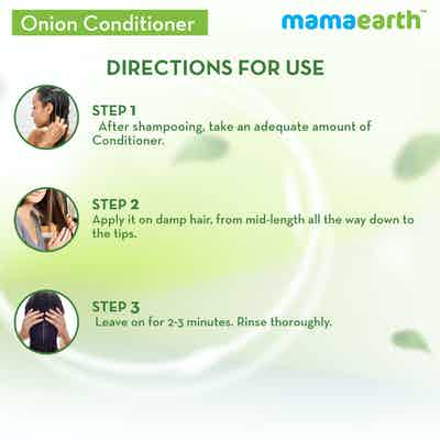 How to use mamaearth onion conditioner for hair
