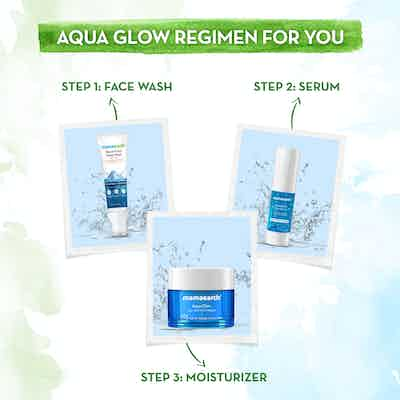 mamaearth range Aqua Glow Gel Face Moisturizer With Himalayan Thermal Water and Hyaluronic Acid