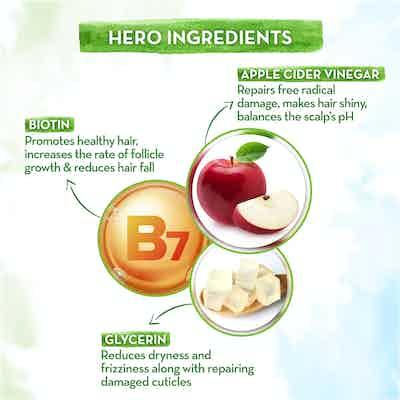 apple cider vinegar shampoo with biotin and glycerin