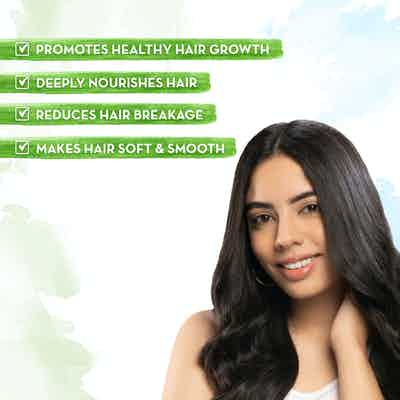 Hair conditioner with almond oil makes hair soft & smooth
