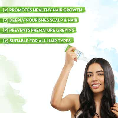 Sweet almond oil promotes healthy hair growth
