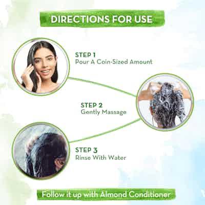 How to use mamaearth almond shampoo