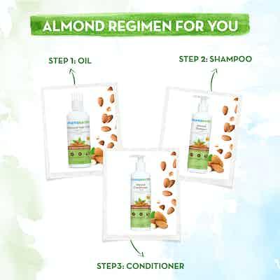 Hair care regimen with almond oil
