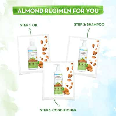 Almond hair care regimen