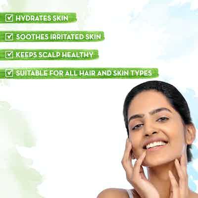 Mamaearth Aloe Vera Gel hydrates skin
