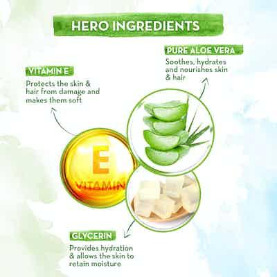 Aloe Vera Gel with Pure Aloe Vera and Vitamin E