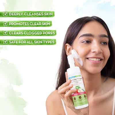 Apple Cider Vinegar Foaming Face Wash promotes clear skin