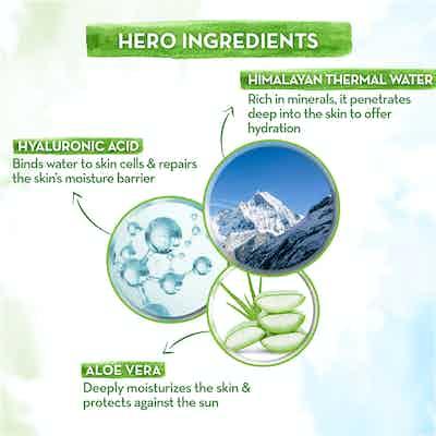 Aqua Glow Hydrating Sunscreen Gel key ingredients