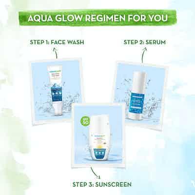 mamaearth aqua glow range