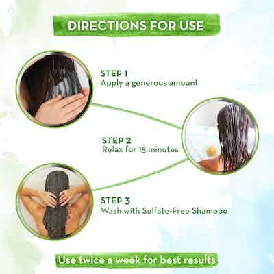 how to use mamaearth Argan Hair Mask