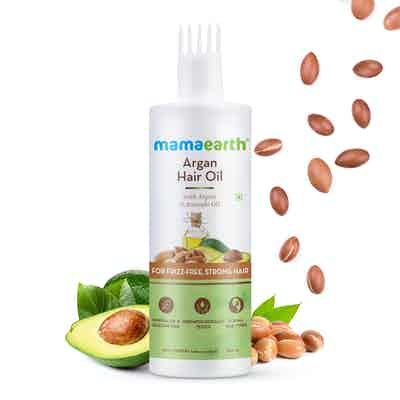 Mamaearth Argan Hair Oil for Frizz-Free and Stronger Hair