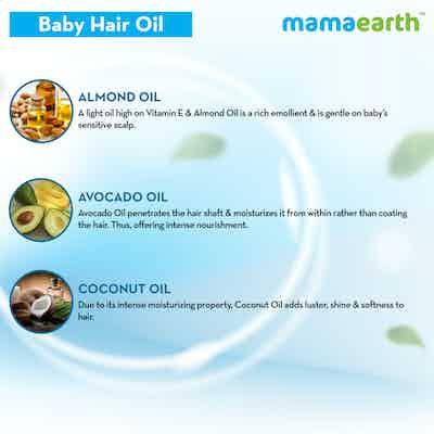 mamaearth baby hair oil