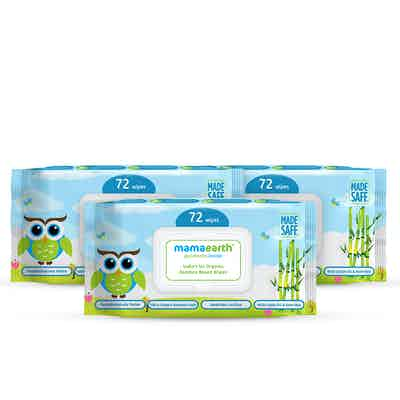 Organic Bamboo Based Baby Wipes – Pack of 3 (72x3)