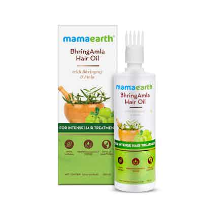 BhringAmla Hair Oil with Bhringraj and Amla for Intense Hair Treatment - 250ml