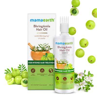 mamaearth bhring amla hair oil