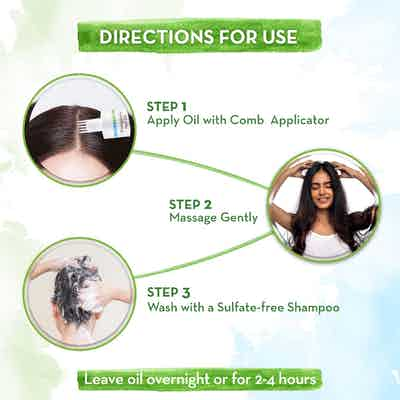 how to use BhringAmla Hair Oil with Bhringraj and Amla