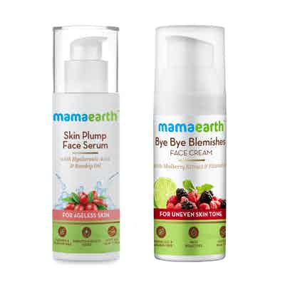 Mamaearth Bye Bye Blemishes 30g and Skin Plump Face Serum Combo