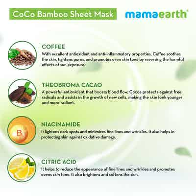 mamaearth sheet mask for skin awakening