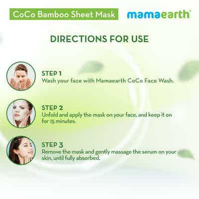 how to use CoCo Bamboo Sheet Mask