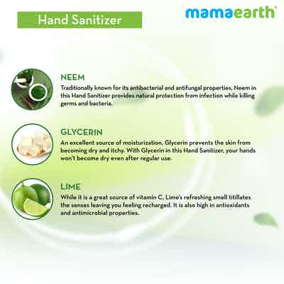 hand sanitizer with natural ingredients and alcohol