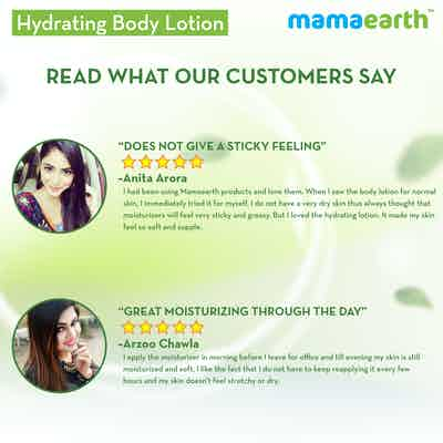 Mamaearth Hydrating Natural Body Lotion reviews