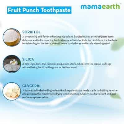 Fruit toothpaste ingredients