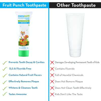 fruit flavoured toothpaste for kids