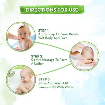 Milky Soft Bathing Bar for Babies with Oats, how to use