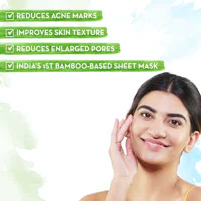 Mamaearth Niacinamide Bamboo Sheet Mask for Clear and Glowing Skin