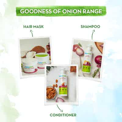 The goodness of onion range of Mamaearth