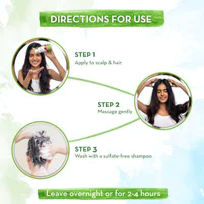 how to use mamaearth hair oil
