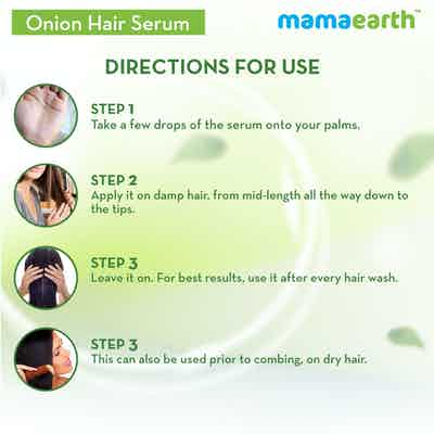 how to use onion serum for hair