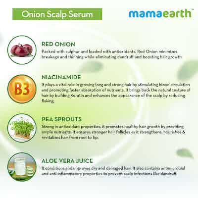 Mamaearth Onion Scalp Serum Ingredients