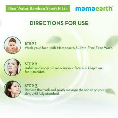 how to use Rice Water Bamboo Sheet Mask