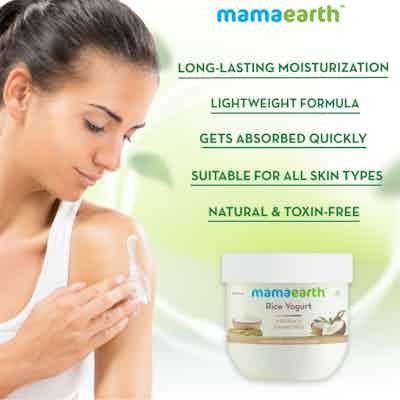 Rice flour and yogurt face mask