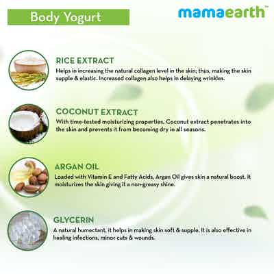 Mamaearth Rice Yogurt with Argan Oil  and Coconut Milk