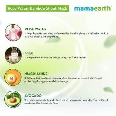 Rose Water Bamboo Sheet Mask ingredients