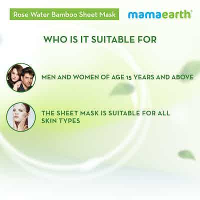 Rose Water Bamboo Sheet Mask for men and women