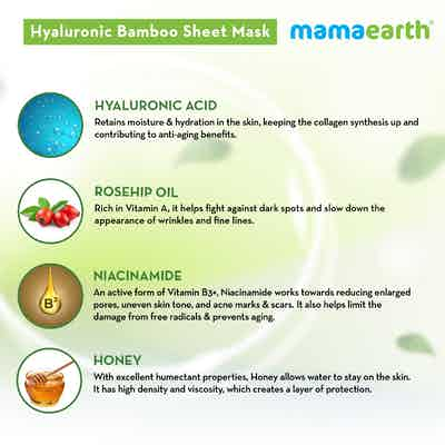 Mamaearth Hyaluronic Bamboo Sheet Mask