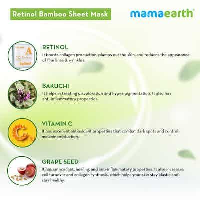 Retinol Bamboo Sheet Mask ingredients
