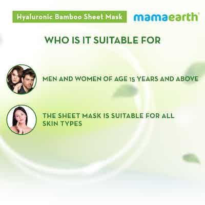 Hyaluronic Bamboo Sheet Mask for men and women