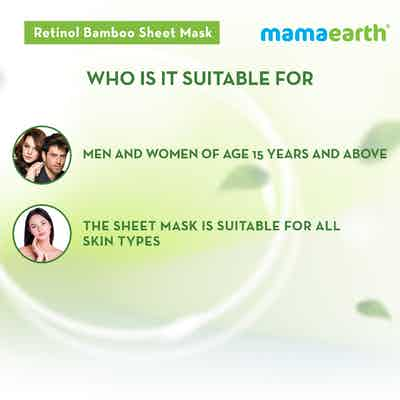 Retinol Bamboo Sheet Mask for men and women