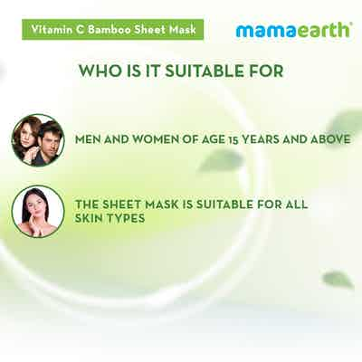 vitamin c face mask sheet for women and men