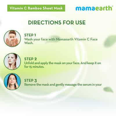 how to use Vitamin C Bamboo Sheet Mask