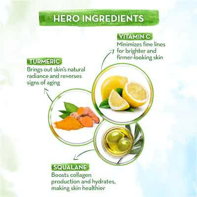 natural face serum with vitamin c & turmeric