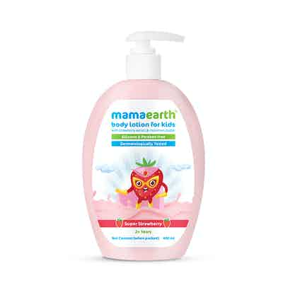 Super Strawberry Body Lotion for Kids With Strawberry & Shea Butter - 400 ml