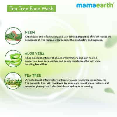 tea tree face wash for acne with natural ingredients