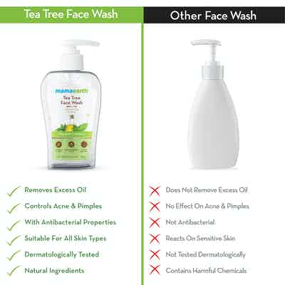 Tea Tree Face Wash is better than other in the market